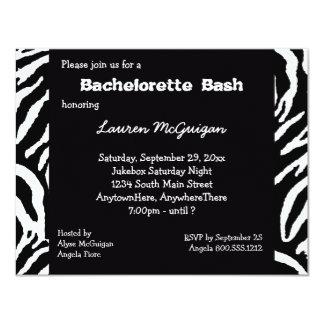 Tiger Striped Bachelorette Party Invitation