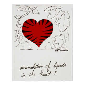 Tiger-Striped Heart print