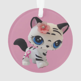 Tiger Striped Kitty Ornament