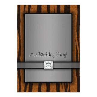 Tiger Stripes 21st Birthday Party Invitations