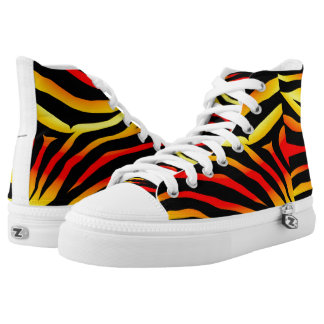 Tiger Stripes Animal Print High Tops Sneakers