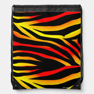 Tiger Stripes Animal Print Pattern Drawstring Bag