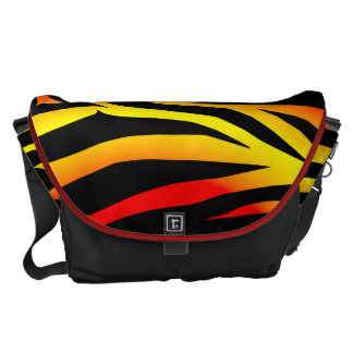 Tiger Stripes Animal Print Pattern Messenger Bag