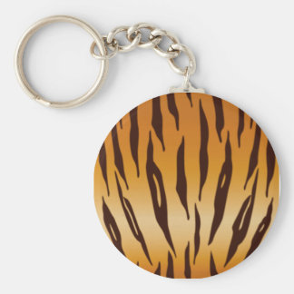 Tiger Stripes... Basic Round Button Key Ring