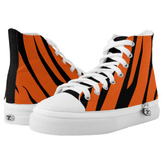 TIGER STRIPES HIGH TOPS ZIPZ PRINTED SHOES