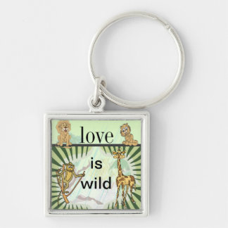 Tiger Stripes Jungle Baby Shower Set Key Chains