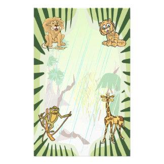 Tiger Stripes Jungle Baby Shower Set Stationery