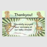 Tiger Stripes Jungle Baby Thankyou Rectangular Stickers