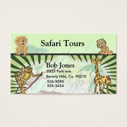 Tiger Stripes Jungle Safari Business Card