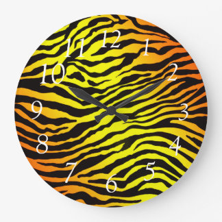 Tiger Stripes Large Clock