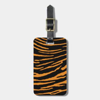 Tiger Stripes Luggage Tag