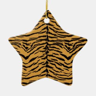 Tiger Stripes Pattern Ceramic Star Decoration
