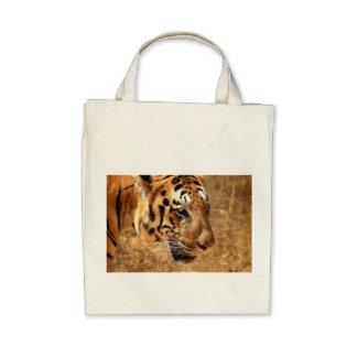 Tiger Stripes Pattern Colorful Safari Jungle Cat Canvas Bags