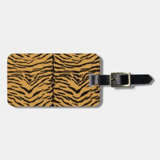 Tiger Stripes Pattern Luggage Tag