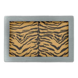 Tiger Stripes Pattern Rectangular Belt Buckle