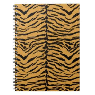 Tiger Stripes Pattern Spiral Notebook