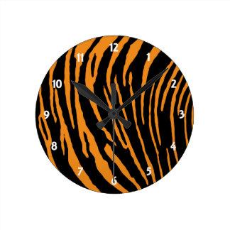 Tiger Stripes Round Clock