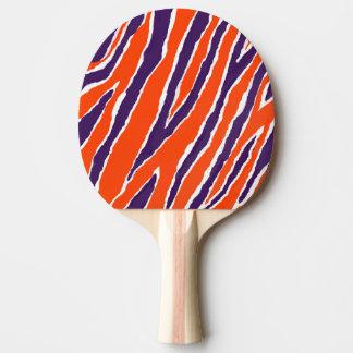 Tiger Strips/Purple Orange Design Ping Pong Paddle