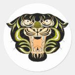 Tiger Style 1 Round Sticker