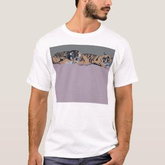 Tiger Sumatran Cubs Sleeping Apparel T-Shirt