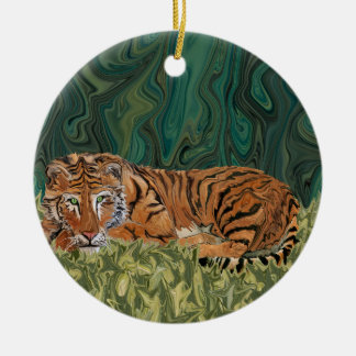 Tiger Sunday Serendipity Christmas Ornament