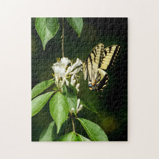 Tiger Swallowtail Butterfly on Honeysuckle Puzzle