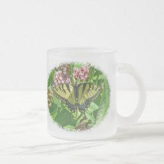 Tiger Swallowtail Butterfly on Milkweed Coffee Mugs