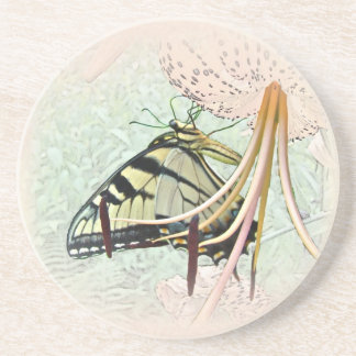 Tiger Swallowtail Butterfly on Turk's Cap Lily Drink Coasters