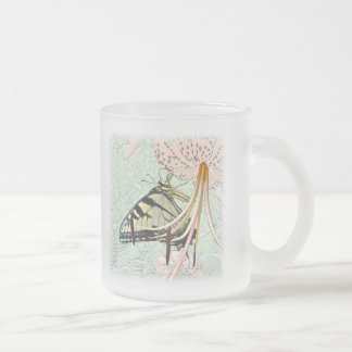 Tiger Swallowtail Butterfly on Turk's Cap Lily Coffee Mugs