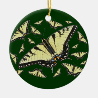 Tiger Swallowtail Butterfly Round Ceramic Decoration