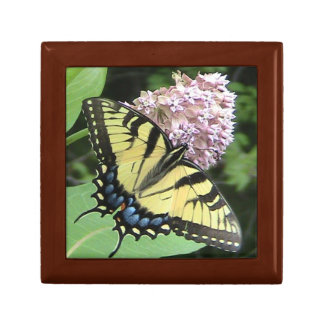 Tiger Swallowtail Butterfly Wood Jewelry Box