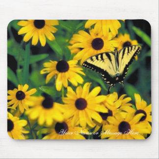 Tiger swallowtail on Black-eyed susan Mouse Pads
