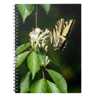 Tiger Swallowtail on Honeysuckle Notepad Spiral Notebook