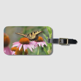 Tiger Swallowtail on Purple Coneflower Luggage Tag