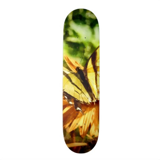 Tiger Swallowtail on Yellow Wildflower Skate Boards