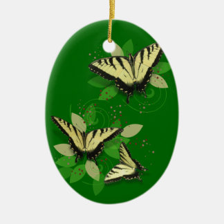Tiger Swallowtails Christmas Ornament