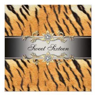Tiger Sweet Sixteen Party Invitation Tiger