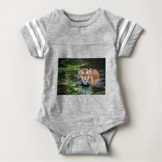 Tiger Swimming Baby Bodysuit