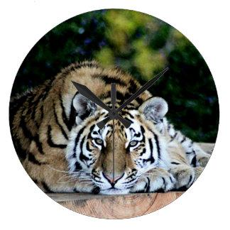 Tiger tiger burning bright large clock