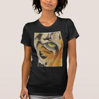 """""""Tiger Tiles"""" Tiger Face Mosaic Watercolor Tshirt"""