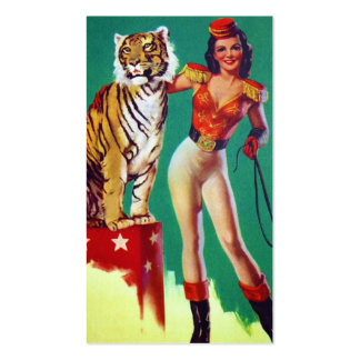Tiger Trainer Pin-Up Girl Pack Of Standard Business Cards