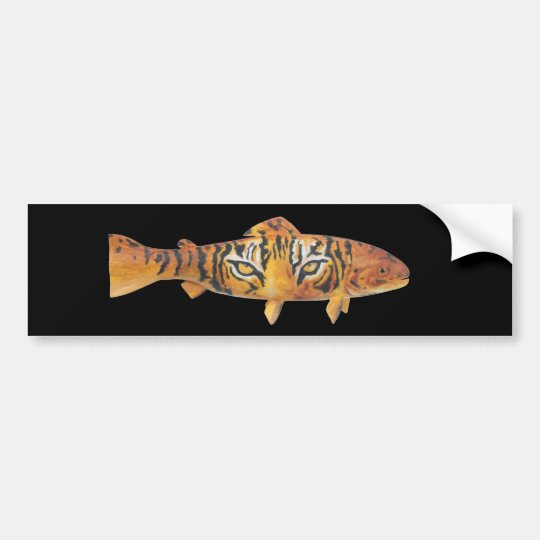 Tiger Trout Bumpersticker Bumper Sticker