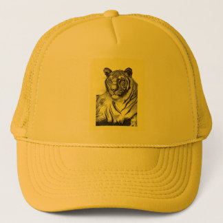 Tiger Trucker Hat in Yellow