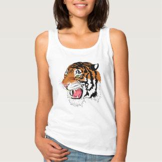 Tiger vest for girl tank top