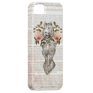 Tiger Vintage Barely There iPhone 5 Case