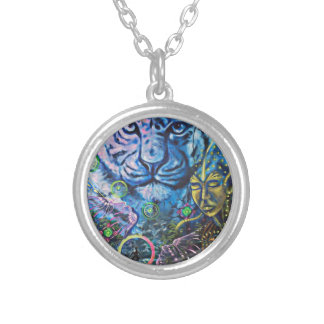 Tiger Vision Silver Plated Necklace