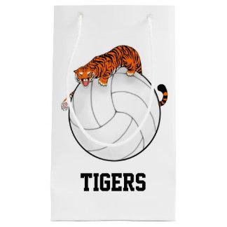 tiger volleyball gift bag, school sports mascot small gift bag