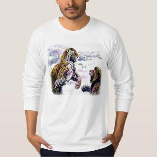 Tiger VS Lion Vintage T-shirts