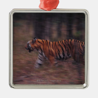 Tiger Walking through Forest Christmas Ornament