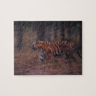Tiger Walking through Forest Jigsaw Puzzle